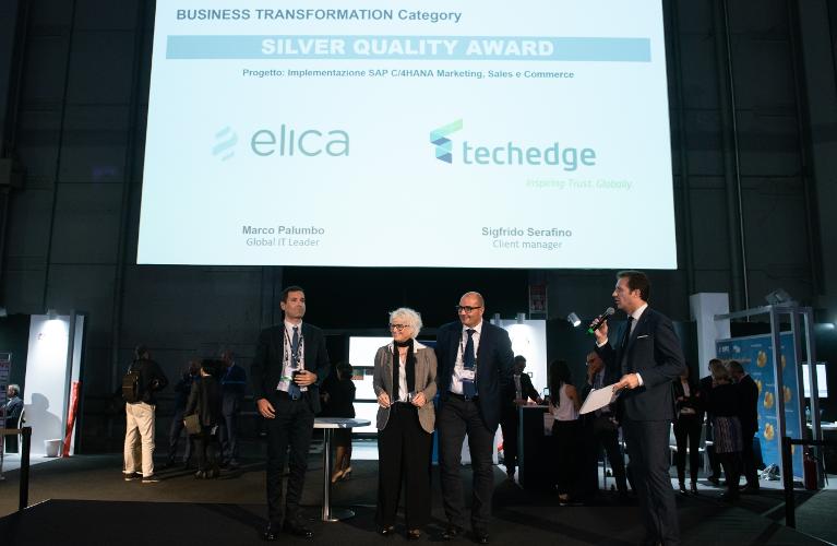 Techedge si aggiudica due SAP Quality Awards per la categoria Business Transformation