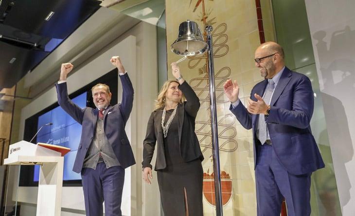 Techedge toca la campana de apertura en la Bolsa de Valores de Italia