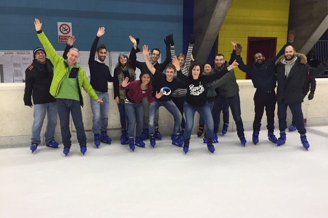 Ice Skating with Colleagues at Techedge