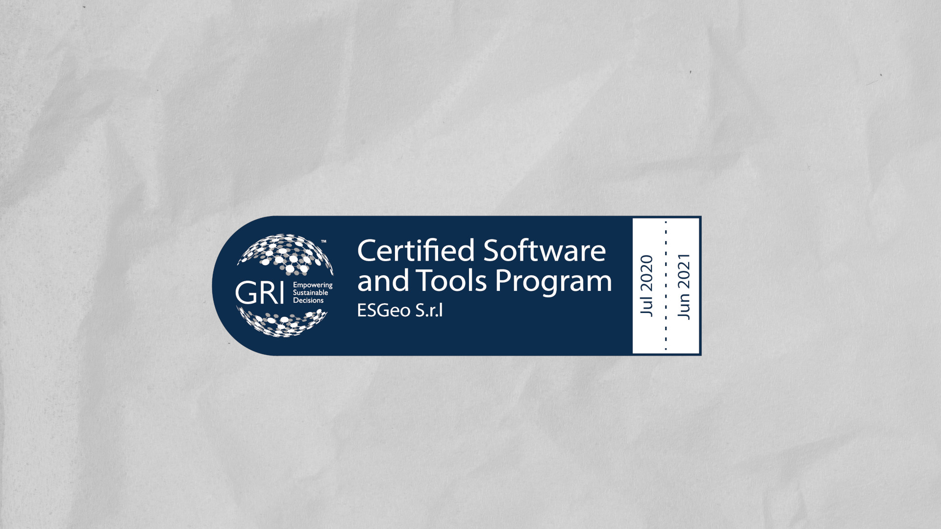 ESGeo is a GRI Certified Software