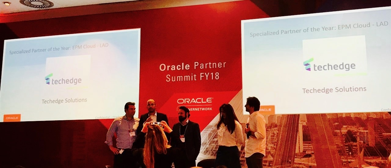 Techedge é Premiada Oracle Specialized Partner of the year 2017 EPM Cloud LATAM