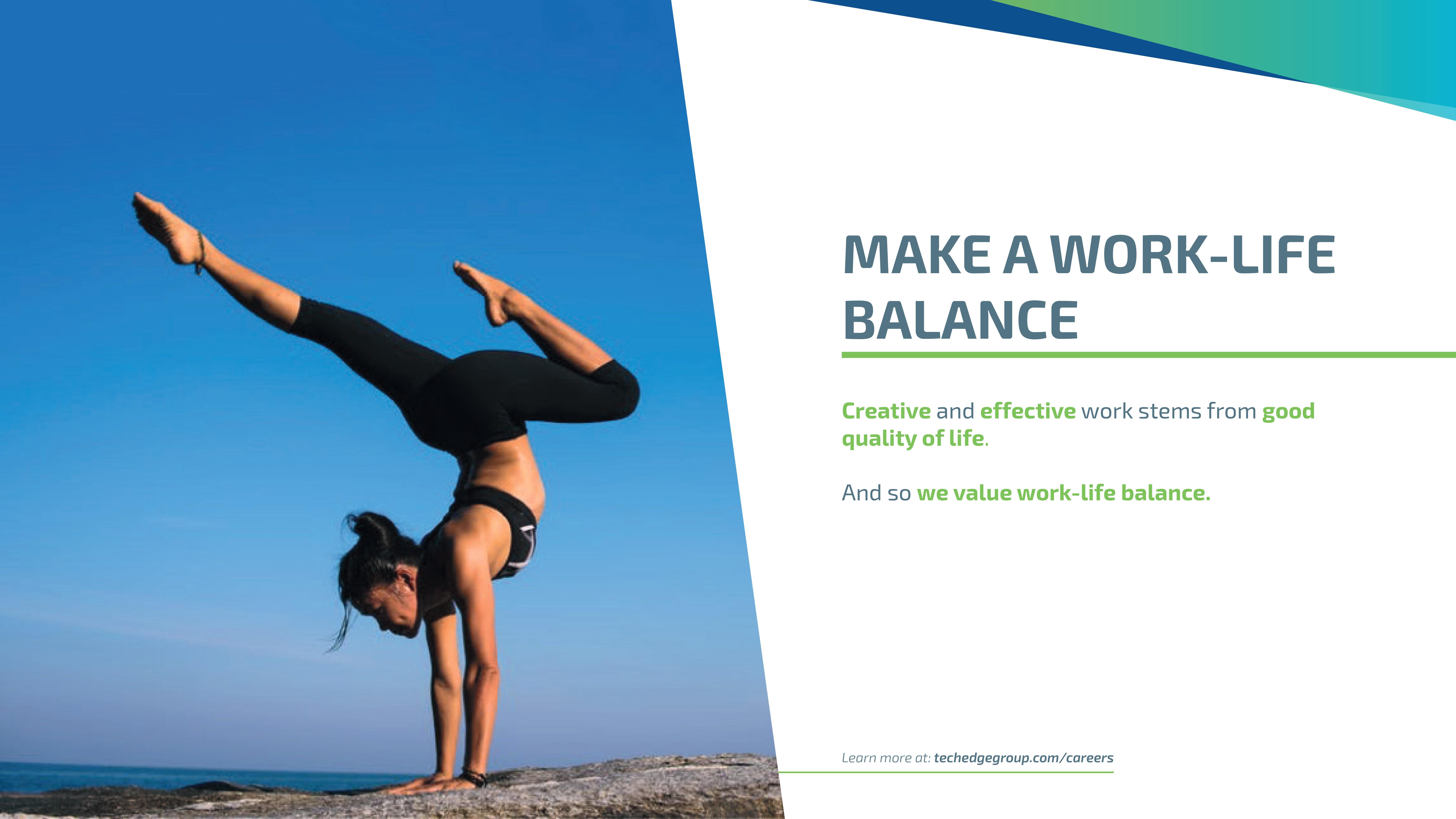 Make a work/life balance